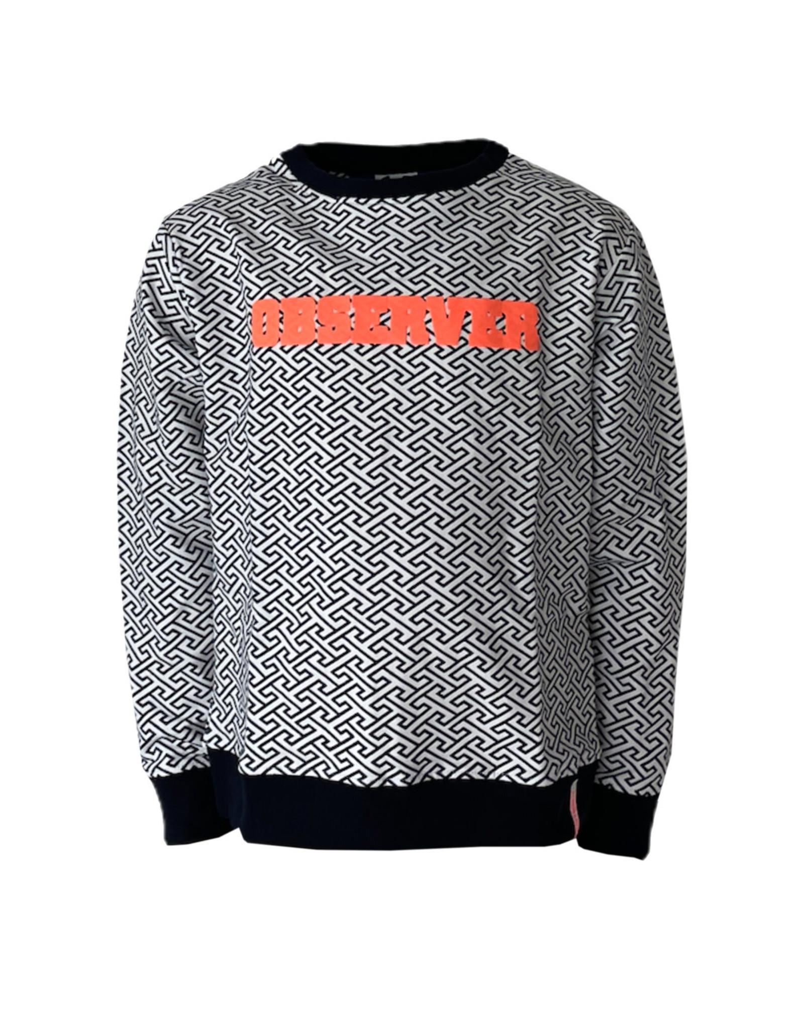 Mister-T Mister-T jongens sweater Zef Dark Blue Of White