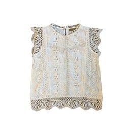 Topitm Topitm meiden blouse Saar lace off White