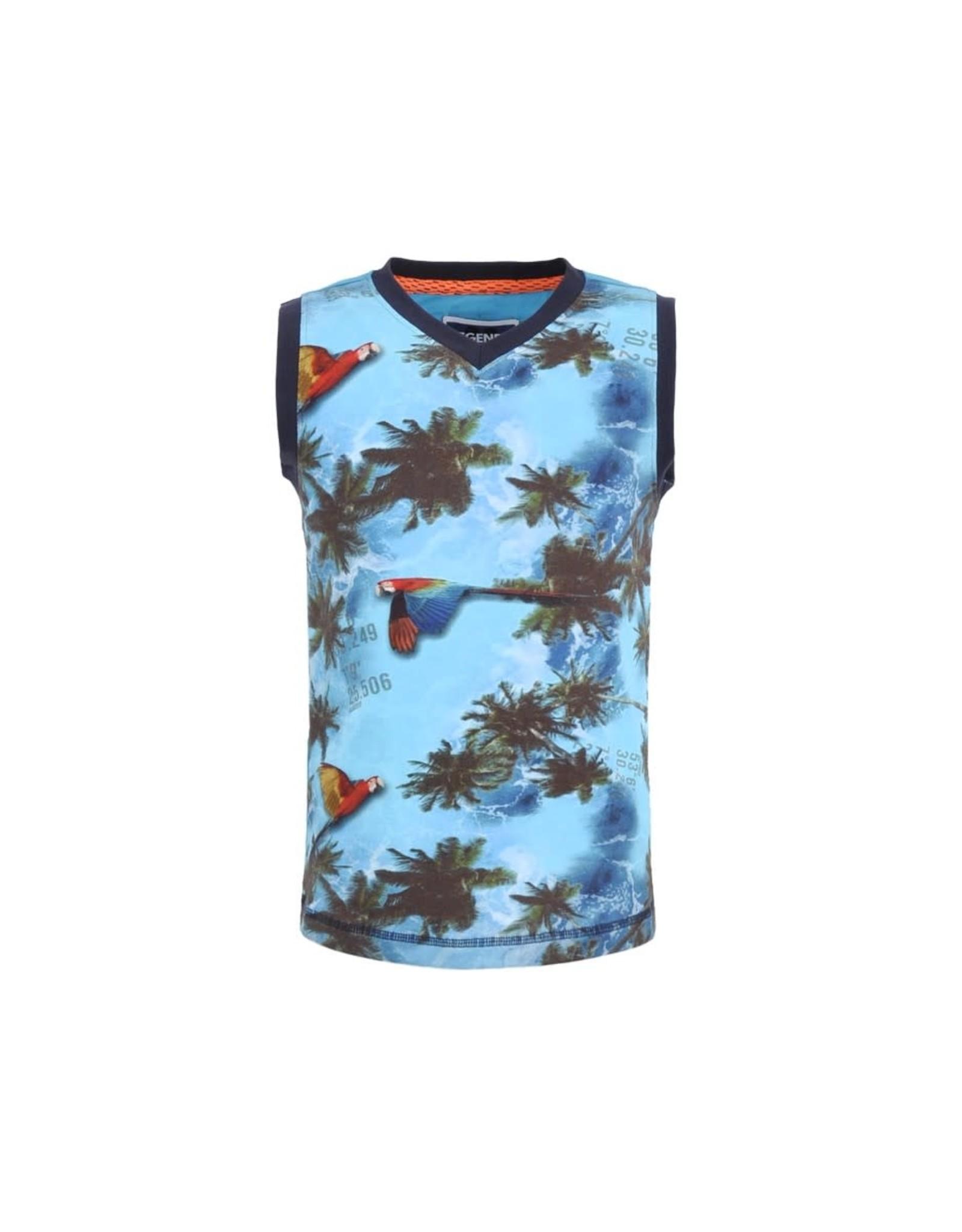 Legends jongens hemd Remco Scuba Blue