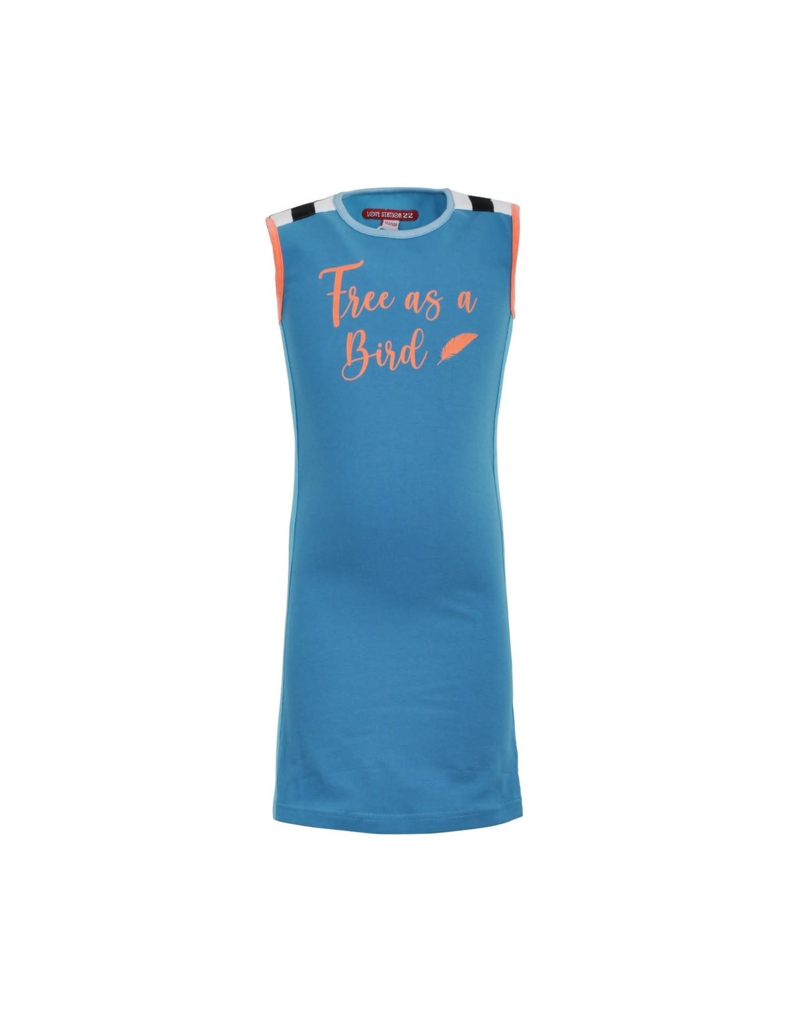 Lovestation meisjes jurk Niara Sea Blue