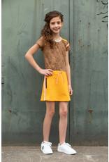 Love Station meisjes korte mouwen jurk Nikola Brown