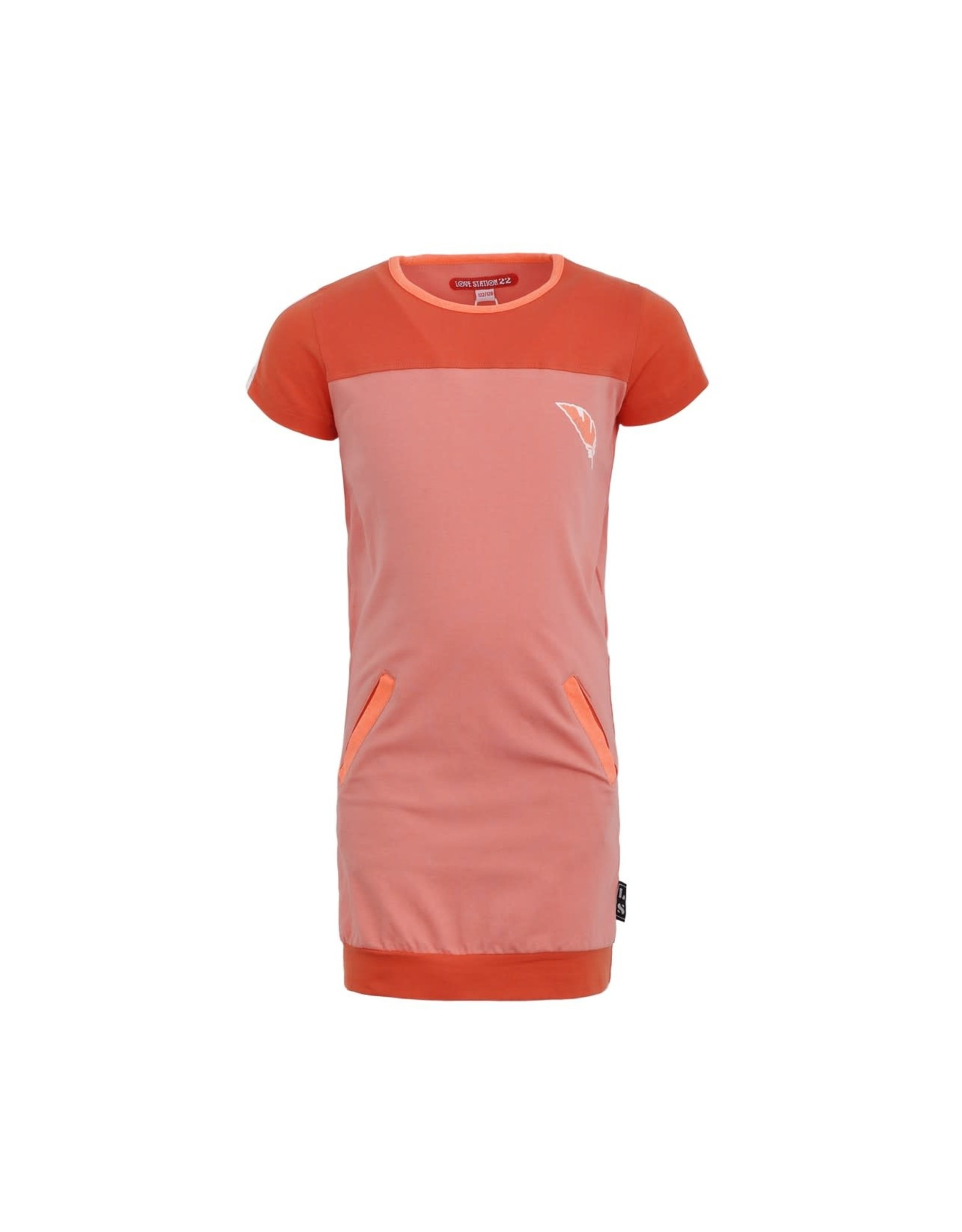 Lovestation Love Station meisjes korte mouwen jurk Noami Pink