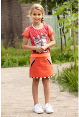 Lovestation Love Station meisjes korte mouwen jurk Nilaya Red