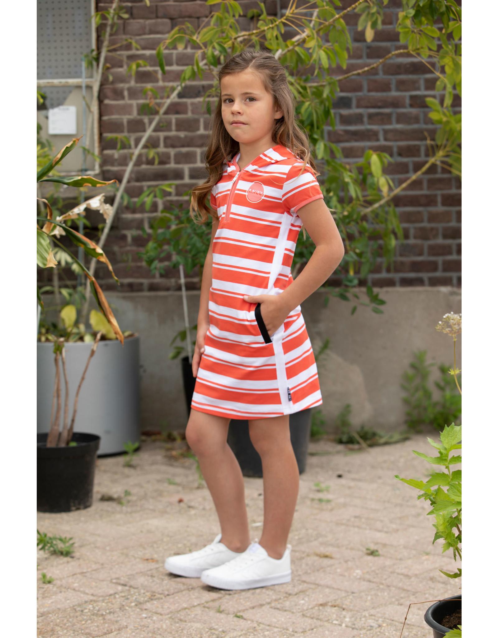 Lovestation meisjes korte mouwen hoodie jurk Noelise