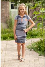 Lovestation meisjes korte mouwen hoodie jurk Noemie
