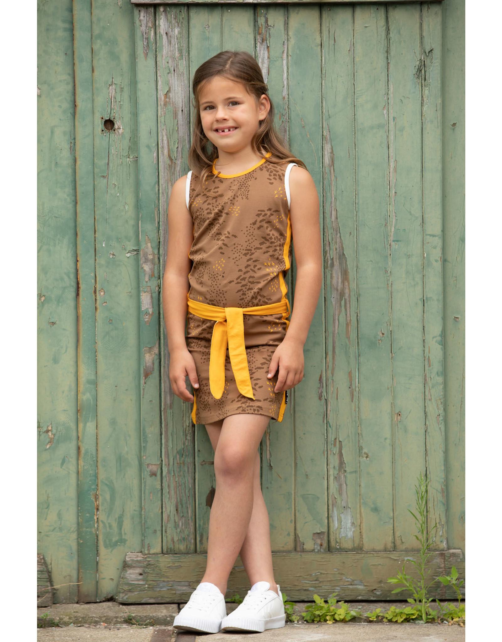 Love Station meisjes mouwloze jurk Nadeche Brown
