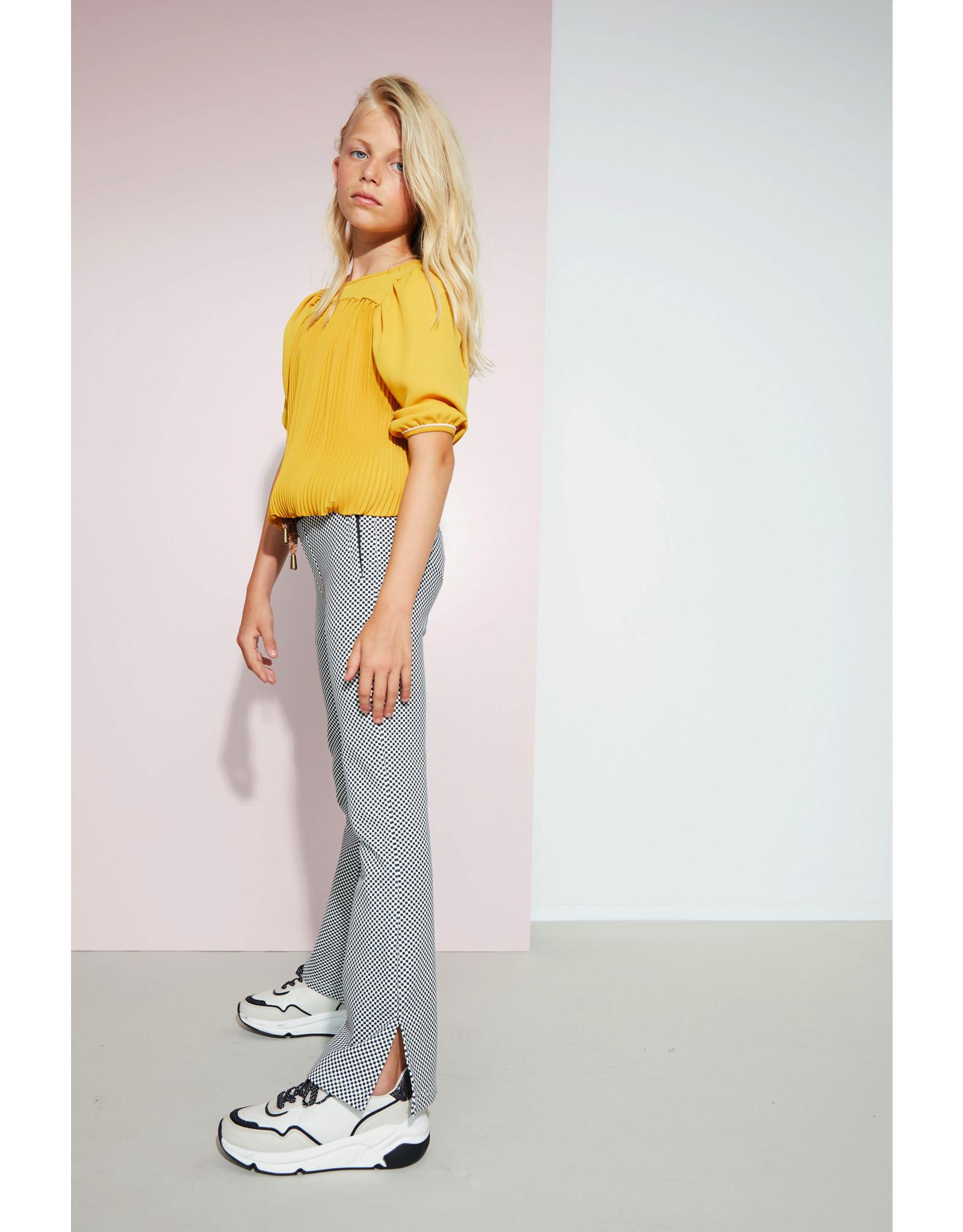 NoBell NoBell meiden oversized plisse blouse Timmy Safari Gold