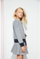 NoBell NoBell meiden reversible indoor jas Donna Grey Navy