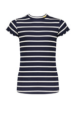 NoBell meiden gestreept t-shirt Kimas Grey Navy