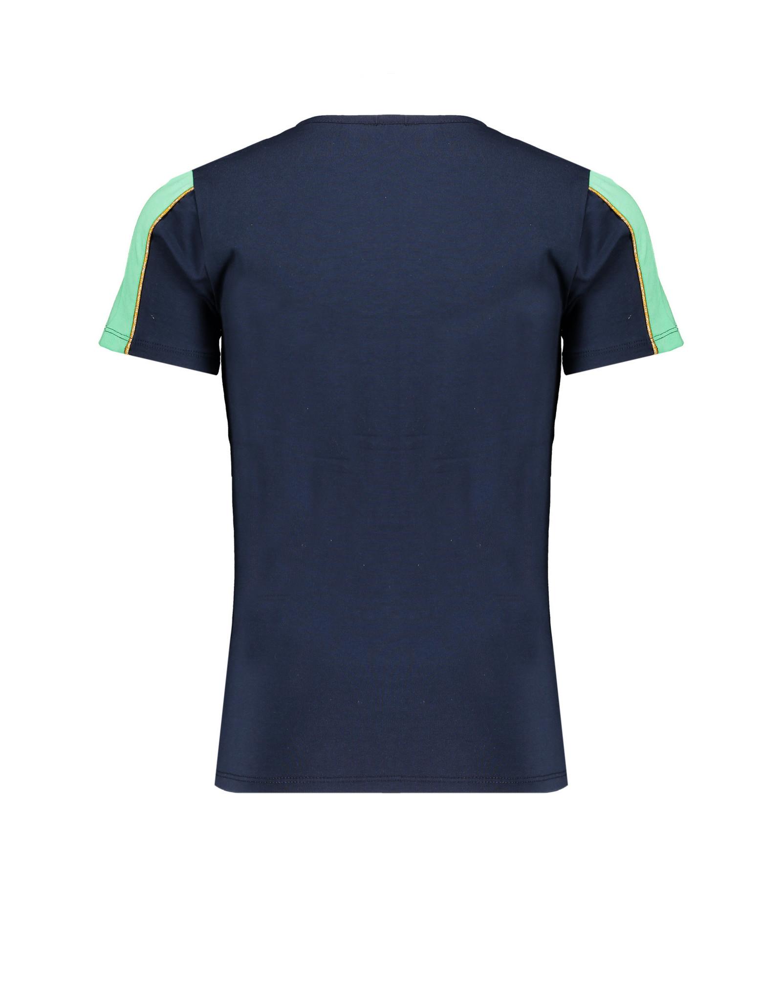 NoBell meiden t-shirt DON'T QUIT Kulian Grey Navy