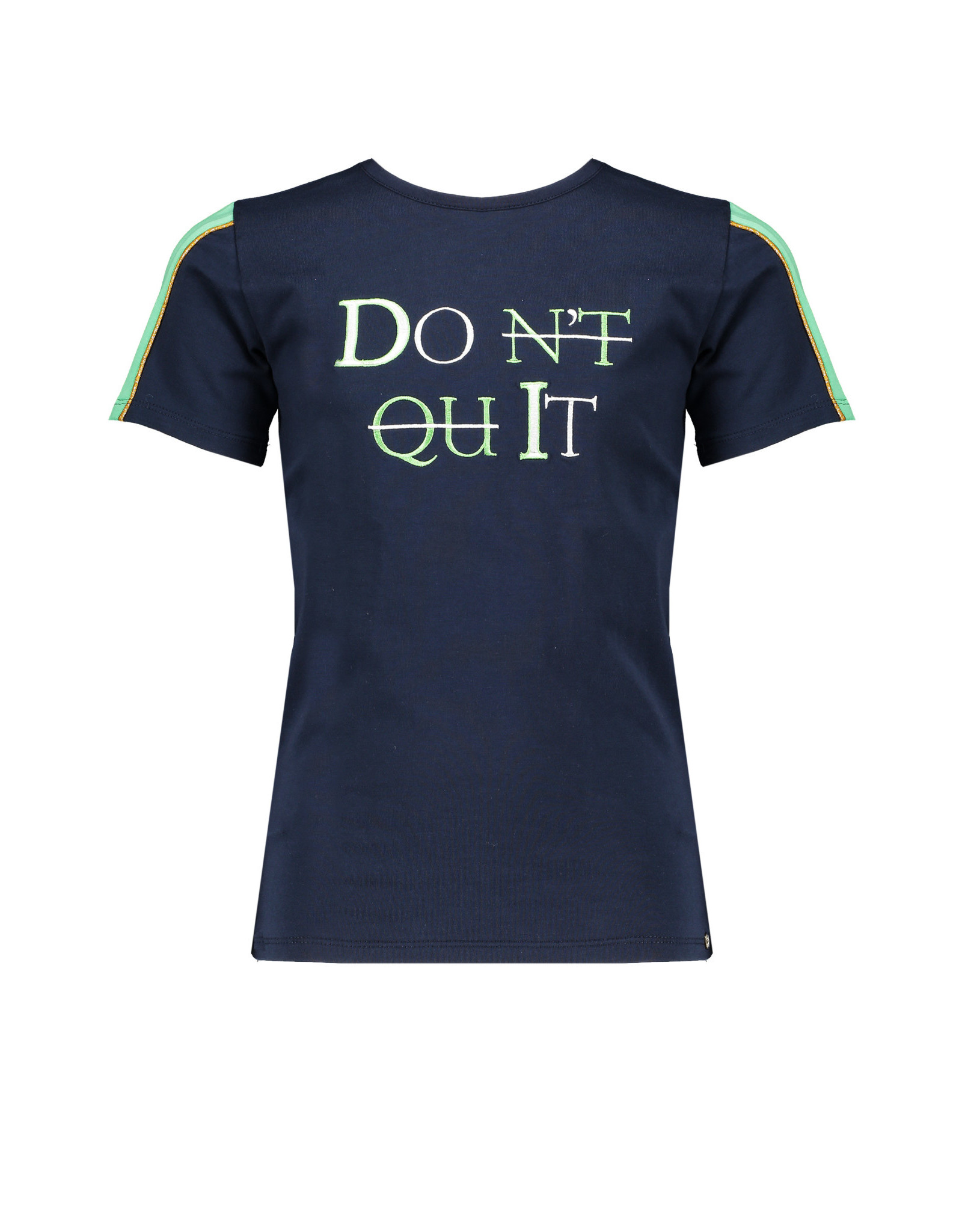 NoBell NoBell meiden t-shirt DON'T QUIT Kulian Grey Navy