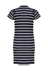 NoBell meiden jersey rib jurk MizzyB Grey Navy