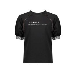 NoBell NoBell meiden oversized t-shirt Kally Jet Black