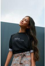 NoBell meiden oversized t-shirt Kally Jet Black