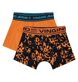 Vingino Vingino jongens ondergoed boxers 2-pack Milan Orange Red