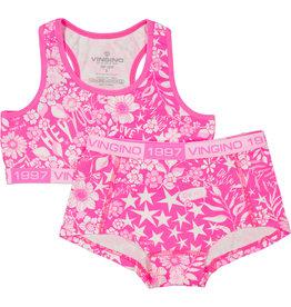 Vingino Vingino meiden ondergoed setje Lis Neon Pink