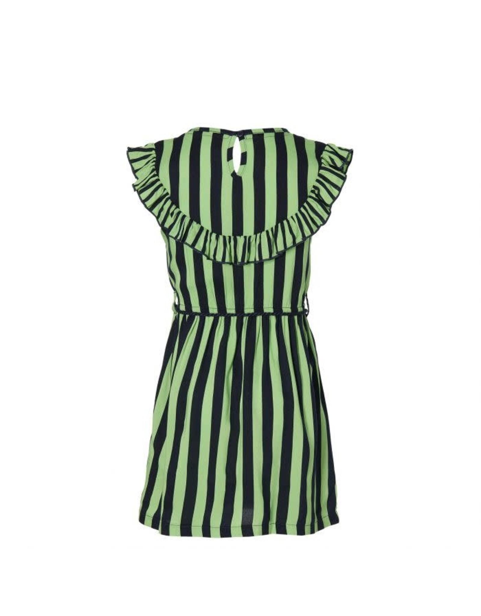 Quapi Quapi meisjes korte mouwen jurk Faitlin Dark Blue Stripe