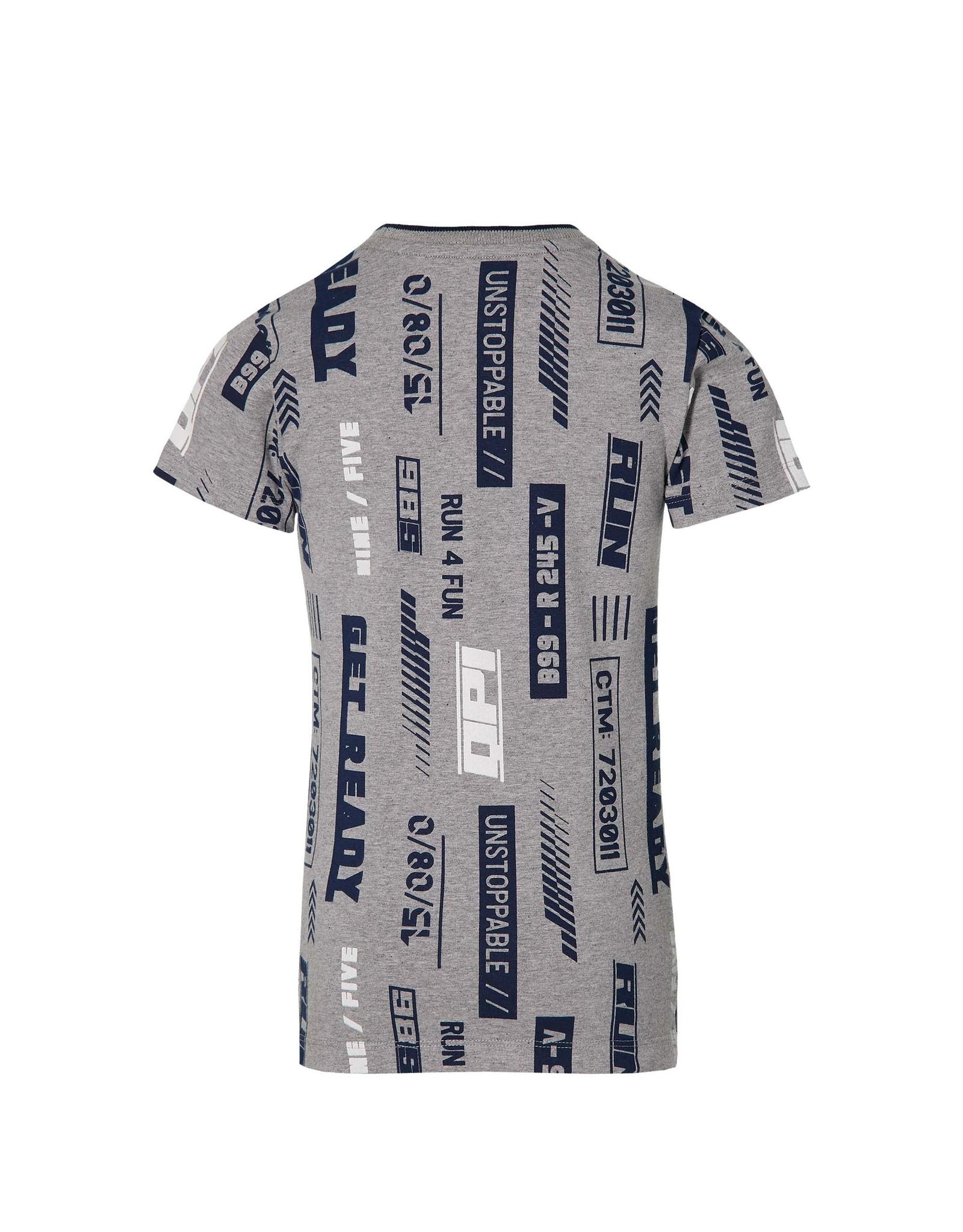 Quapi Quapi jongens t-shirt Fabiano Grey Melee Text