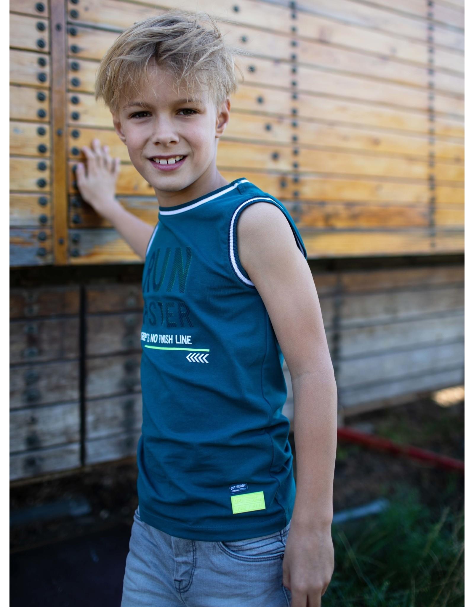 Quapi Quapi jongens hemd Fince Ocean Green