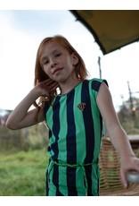 Quapi Quapi meisjes korte mouwen jurk Fab Dark Blue Stripe
