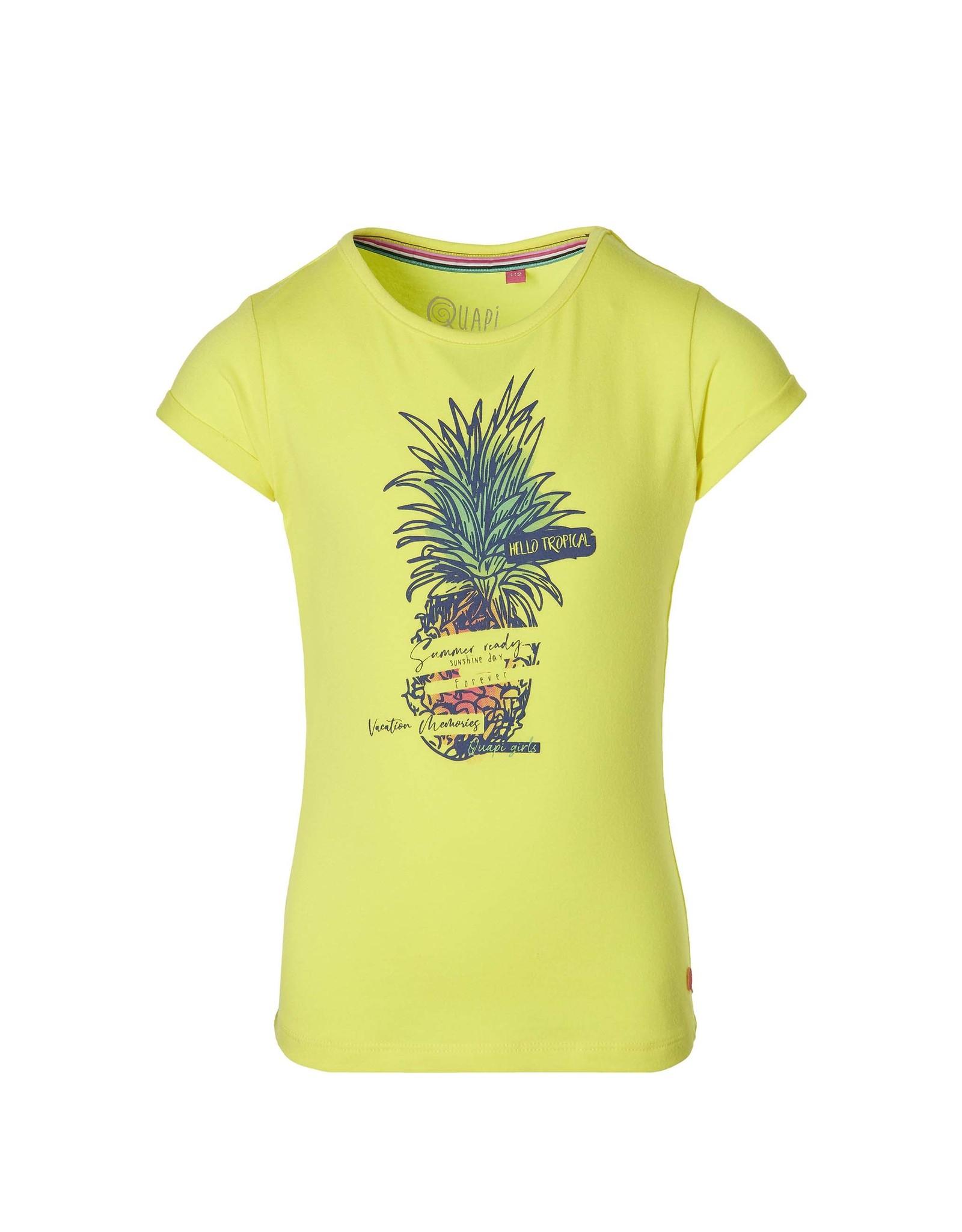 Quapi Quapi meisjes t-shirt Fauna Lemon Yellow