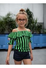 Quapi Quapi meisjes t-shirt Faylena Dark Blue Stripe