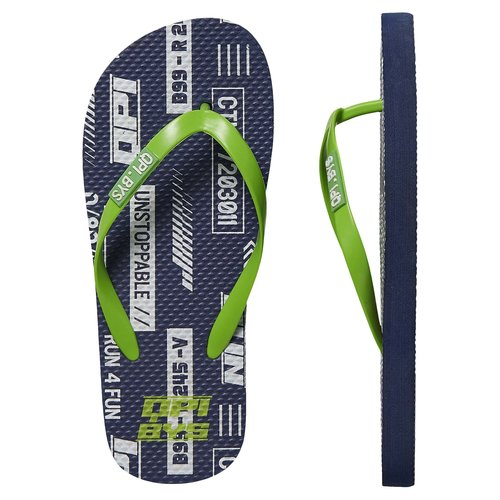 Quapi Quapi jongens slippers Fedja Dark Blue Tekst