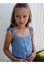 Quapi Quapi meisjes jumpsuit Fetske Summer Blue Stripe