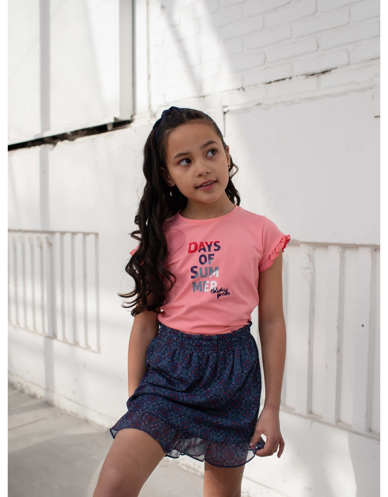 Quapi Quapi meisjes t-shirt Fiebe Shell Pink
