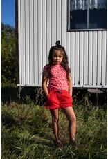 Quapi Quapi meisjes t-shirt Fief Shell Pink Leopard