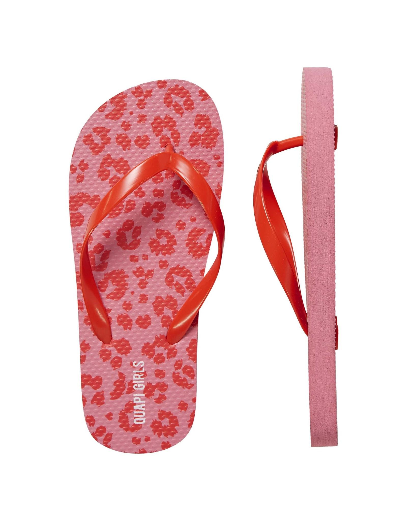 Quapi Quapi meisjes slippers Flox Shell Pink Leopard