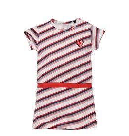 Quapi Quapi baby meisjes jurk Gelize White Multi Stripe