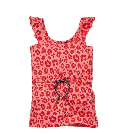 Quapi Quapi baby meisjes jurk Gera Shell Pink Leopard