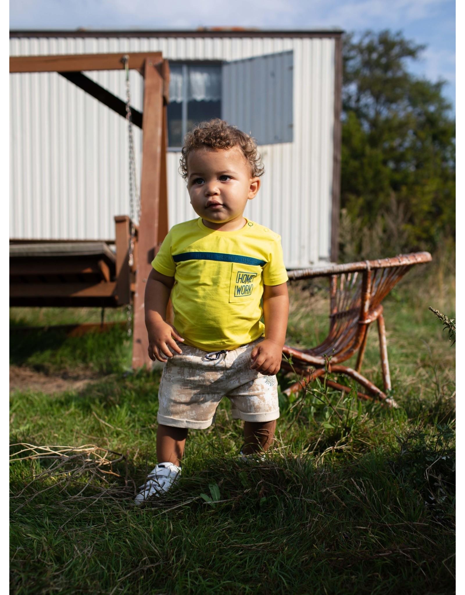 Quapi Quapi baby jongens t-shirt Gerton Blazing Yellow