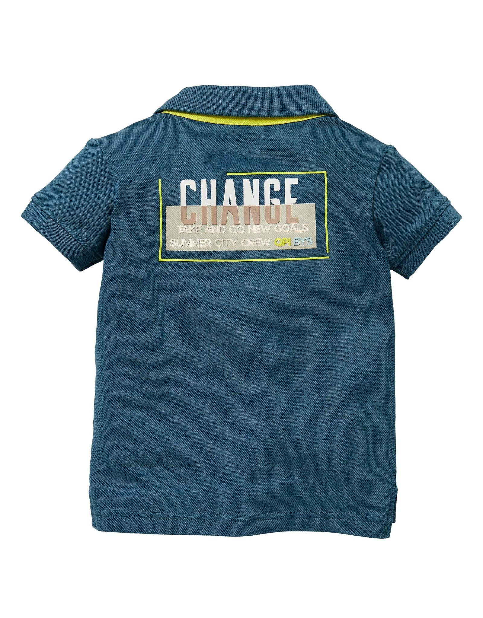 Quapi Quapi baby jongens polo t-shirt Gionni Sport Blue