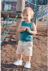 Quapi Quapi baby jongens korte joggingbroek Giver Dark Sand Splatter