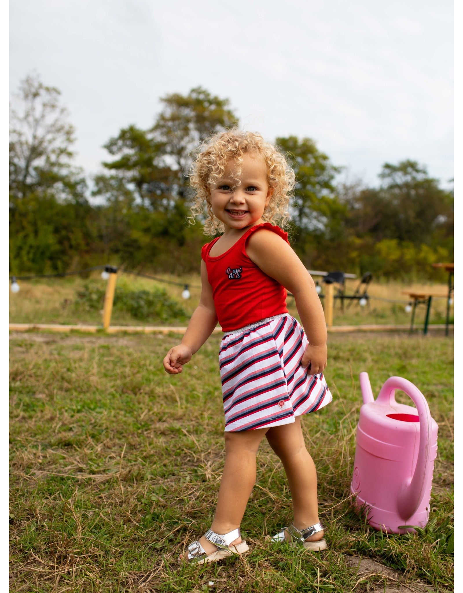 Quapi Quapi baby meisjes rokje Gilka White Multi Stripe