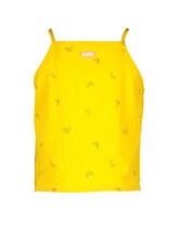 B.Nosy B.Nosy meisjes katoenen top Cheer Banana Yellow