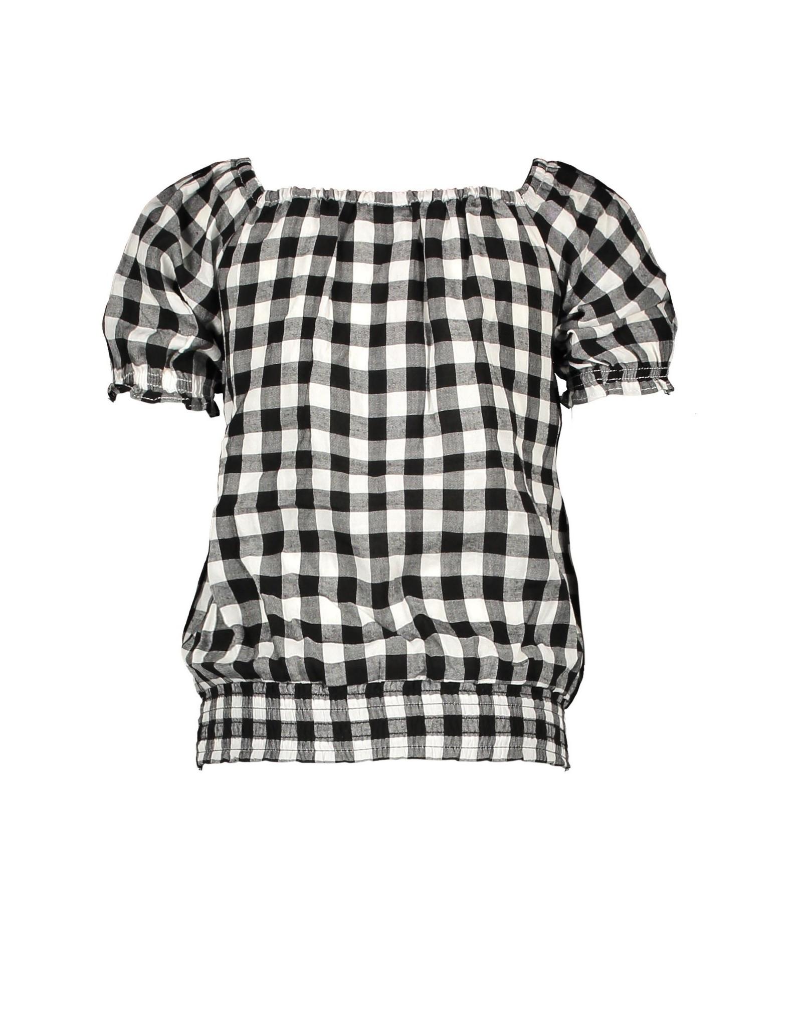 B.Nosy B.Nosy meisjes t-shirt Sunny Black White AO