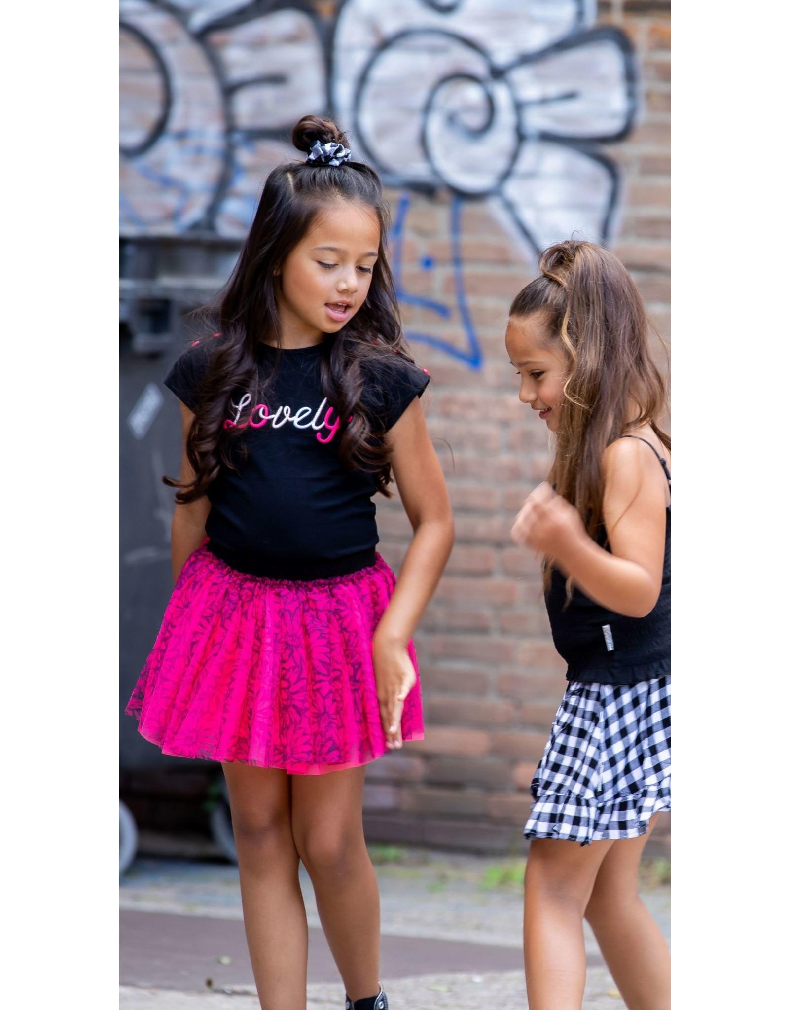 B.Nosy B.Nosy meisjes t-shirt Lovely Black