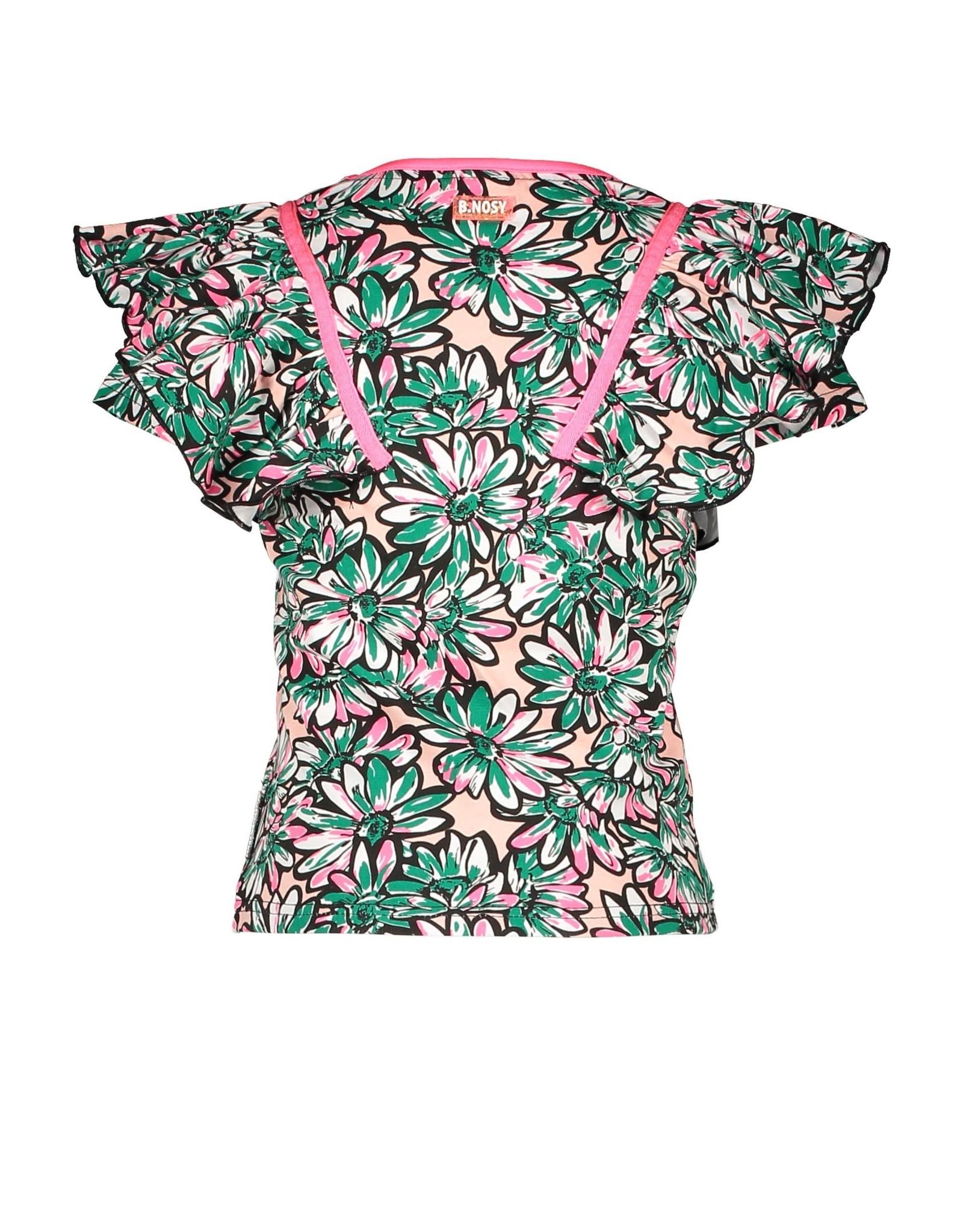 B.Nosy B.Nosy meisjes t-shirt Flowers Sunny AO