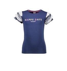 B.Nosy B.Nosy meisjes t-shirt Happy Days Space Blue