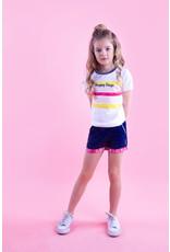B.Nosy B.Nosy meisjes t-shirt Happy Days Stripe Snow White