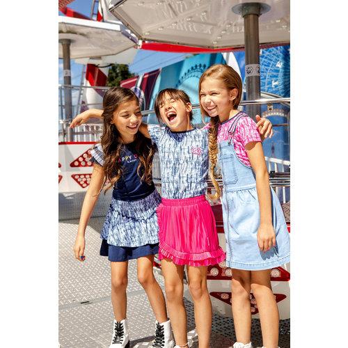 B.Nosy B.Nosy meisjes t-shirt Space Tie Dye Blue