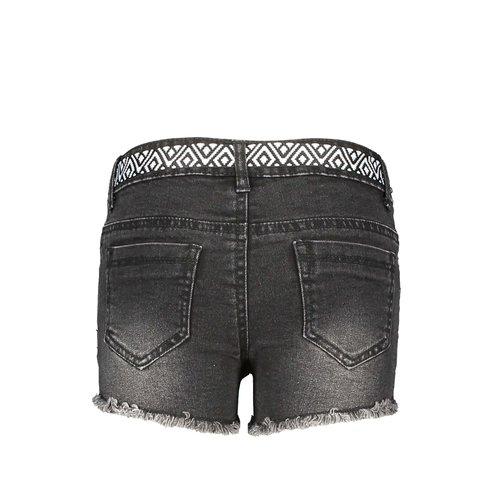 B.Nosy B.Nosy meisjes korte jeans met centuur Black