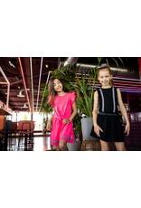 B.Nosy B.Nosy meisjes jurk met kanten mouwtjes Knock out Pink
