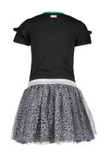 B.Nosy B.Nosy meisjes jurk met tulle Breeze Black