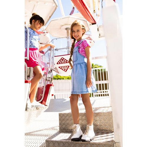 B.Nosy B.Nosy meisjes Denim jurk met rits Free Blue