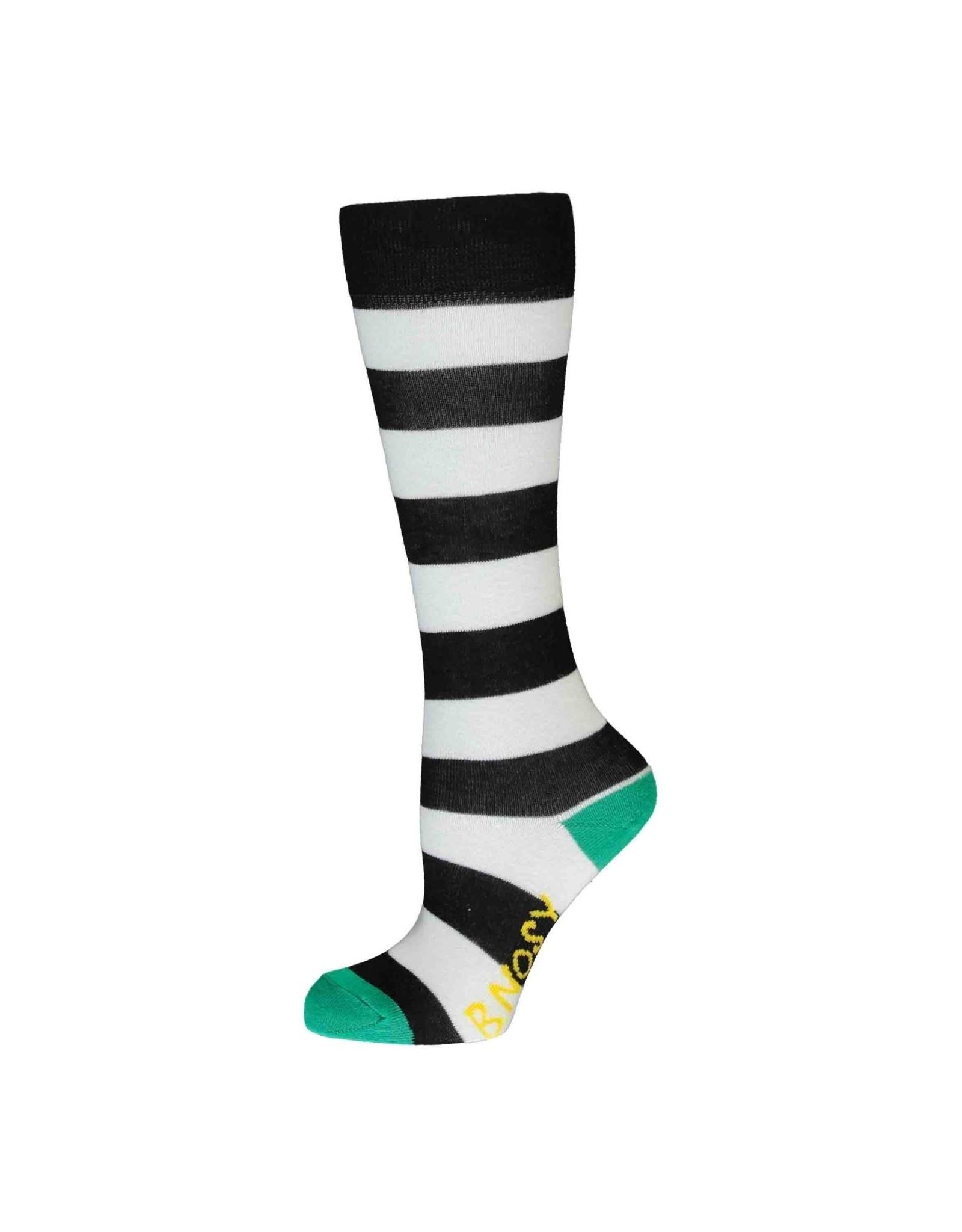 B.Nosy B.Nosy meisjes gestreepte sokken Cheer Black White Stripe