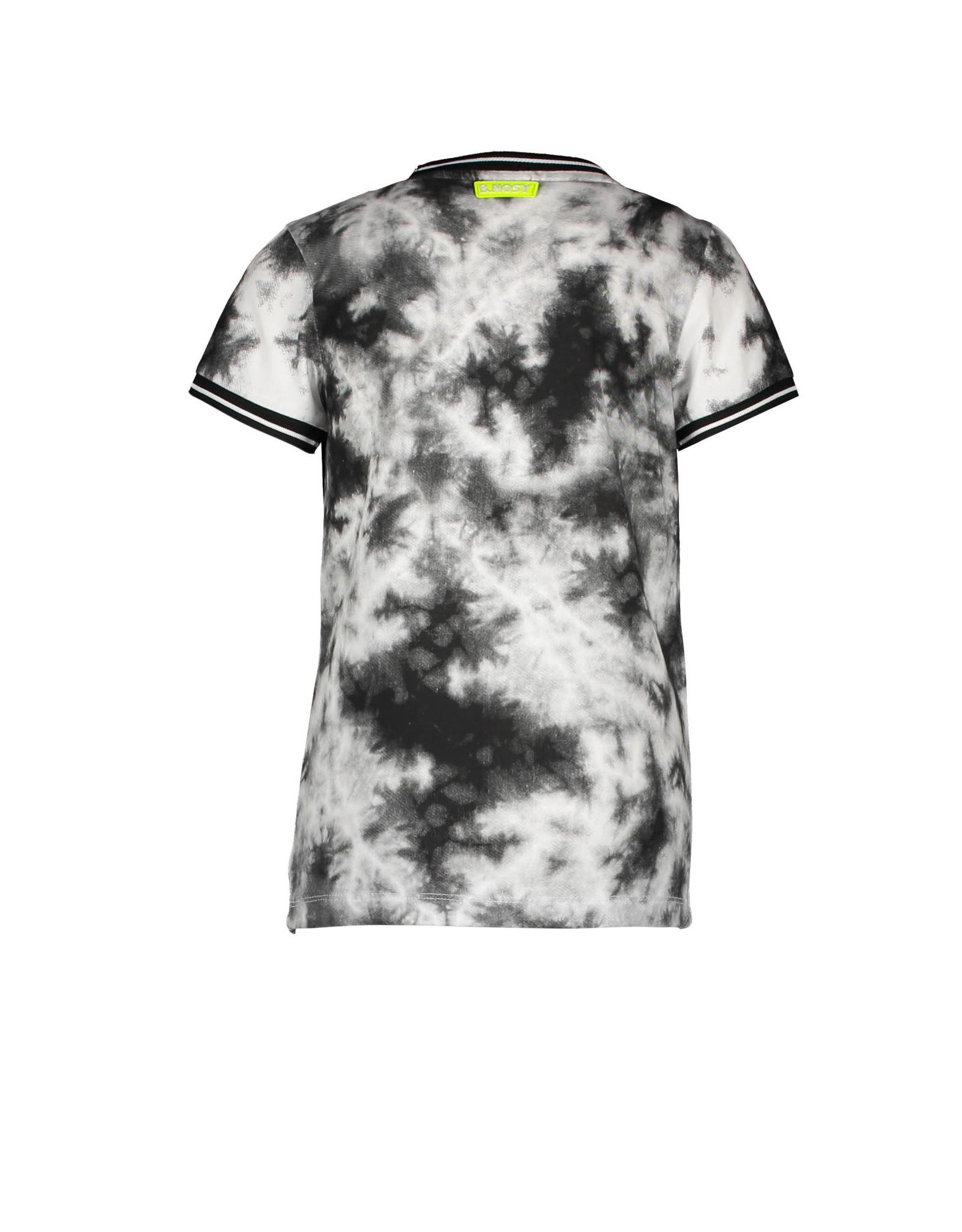 B.Nosy B.Nosy jongens t-shirt Endless Tie Dye Black